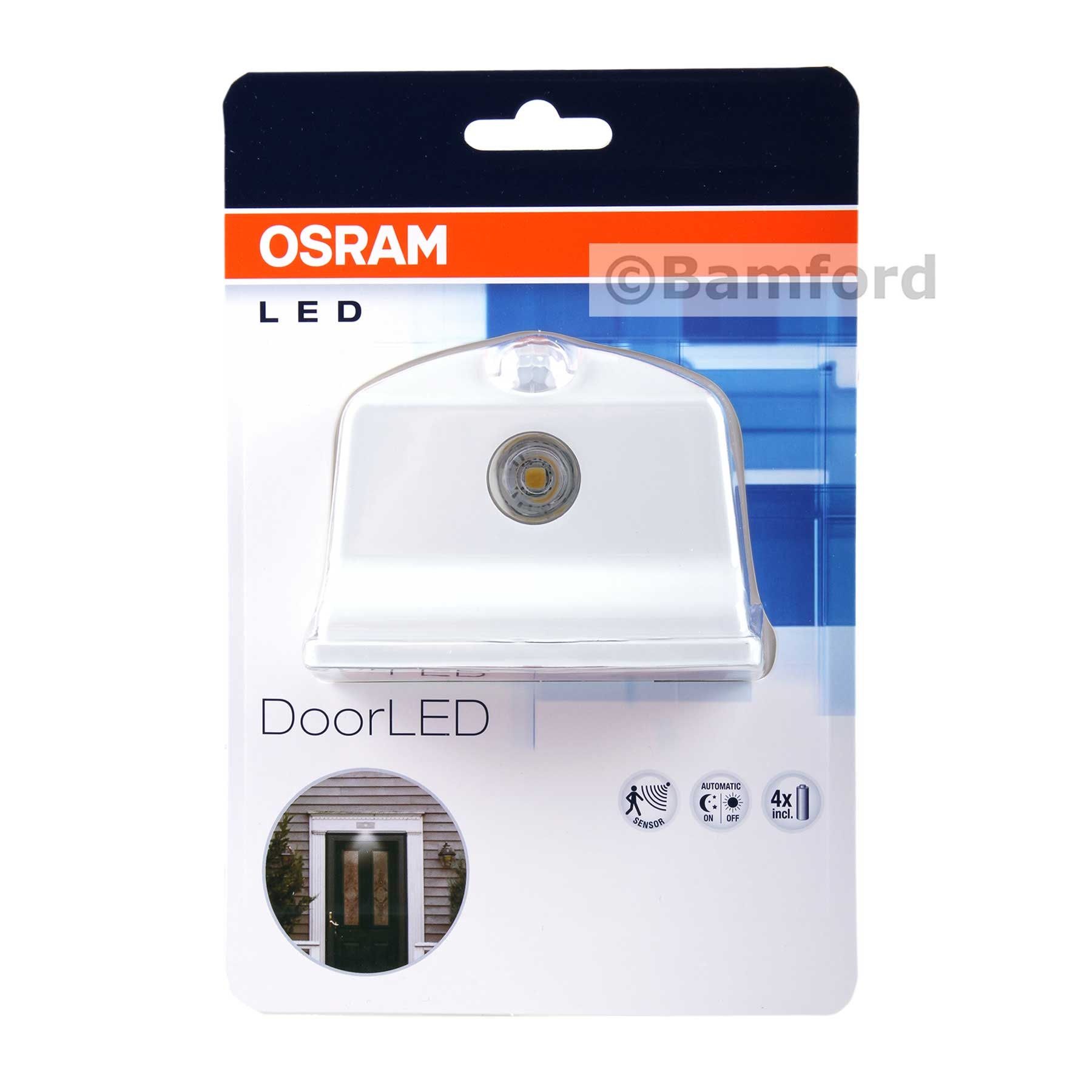 Osram Door LED in White Integrated Light and Motion Sensor | Osram ...