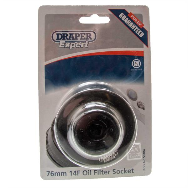 "Draper 59104 OFS-76MM14F Expert 3/8"" Sq. Dr. Oil Filter Socket Thumbnail 2"