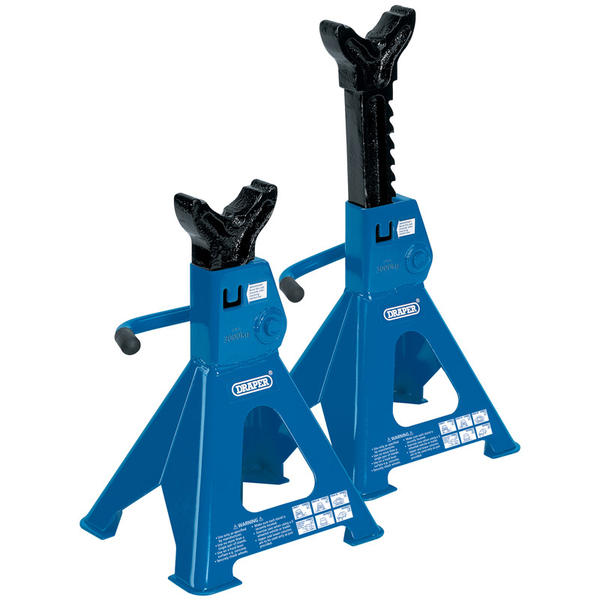 Draper 30881 AS3000R 3 Tonne Ratcheting Axle Stands (Pair) Thumbnail 1