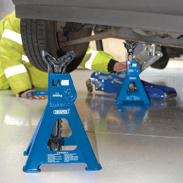 Draper 30881 AS3000R 3 Tonne Ratcheting Axle Stands (Pair) Thumbnail 2