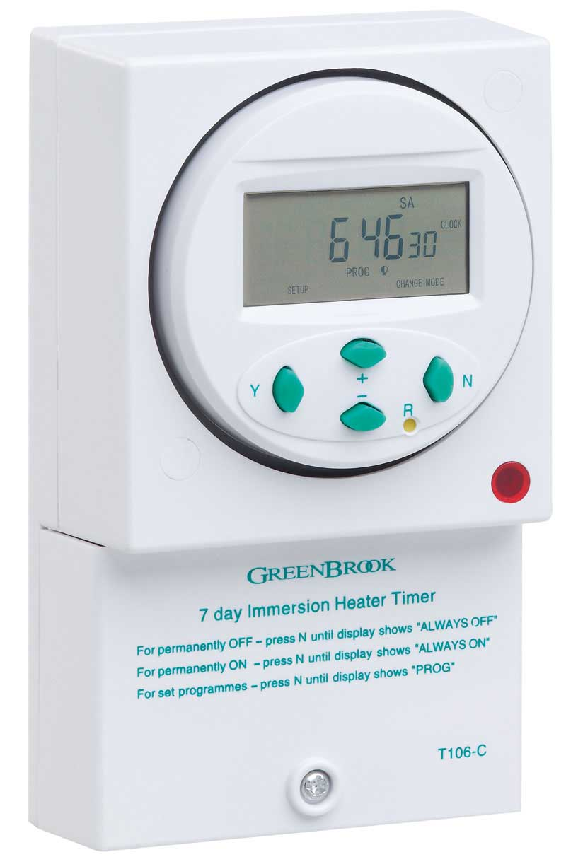 Digital Immersion Water Heater Timer Switch 7 Day 24 Hour