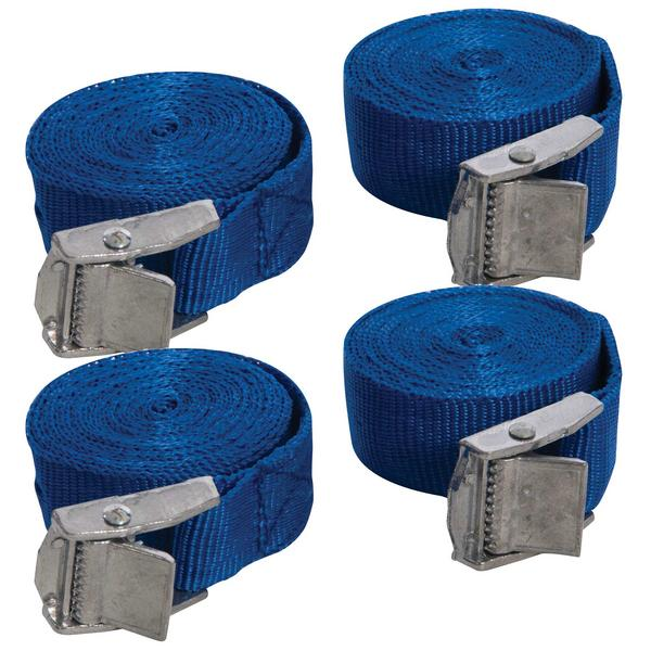 Silverline 449682 2 Piece Cam Buckle Tie Down Straps 2.5M X 25mm Thumbnail 1