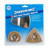 Silverline 883367 Oscillating Multi-Cutter Ceramics Blade Set