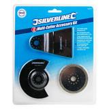 Silverline 609074 Oscillating Multi-Cutter Accessory Kit 3 Piece