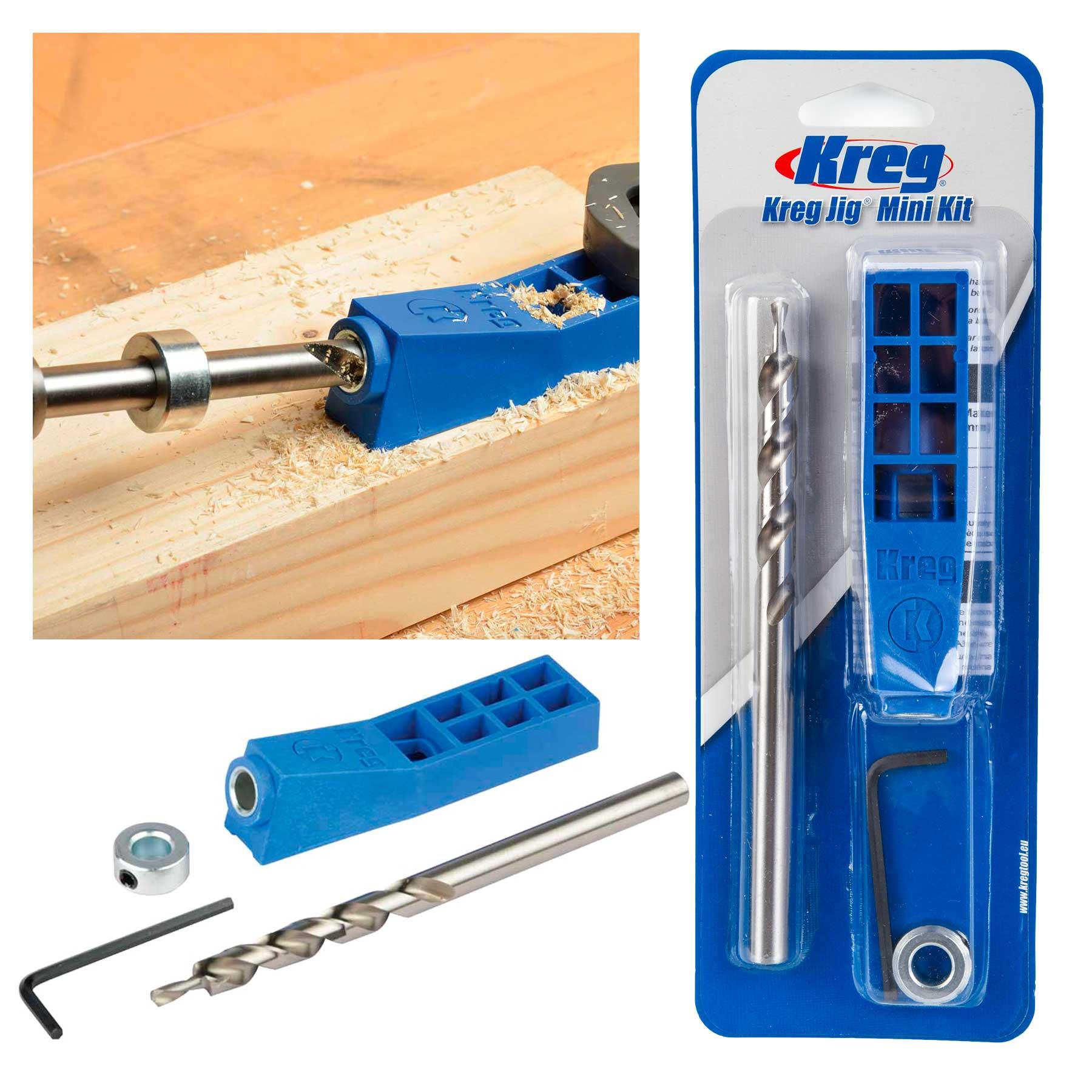 Kreg pocket hole jig mini kit machine system with step drill bit shop categories solutioingenieria Choice Image