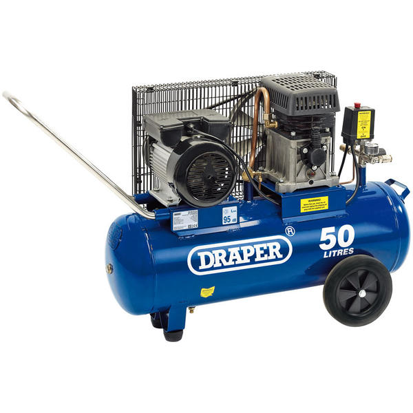 Draper 31253 DA50/290 Air Compressor Belt Driven 230V 3hp 50L Thumbnail 1