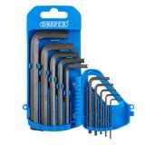 Draper 33688 TKW10A/B 10 piece Imperial Hexagon Key Set