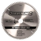 Silverline 427539 Circular Saw Veneer Blade 100T 300mm Diameter 30mm Bore