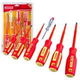 Draper 46540 952/7 Fully Insulated Screwdriver Set/Mains Tester 7 Pce