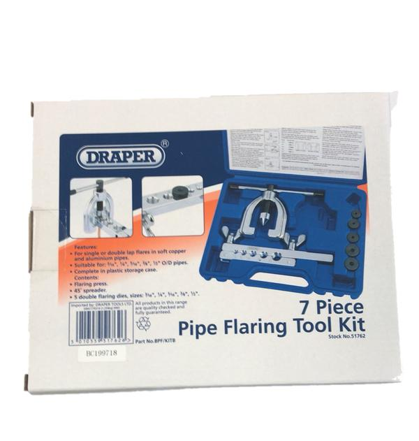 Draper 51762 BPF/KITB Brake Pipe Flaring Installation Tool Kit 7 Piece Thumbnail 2