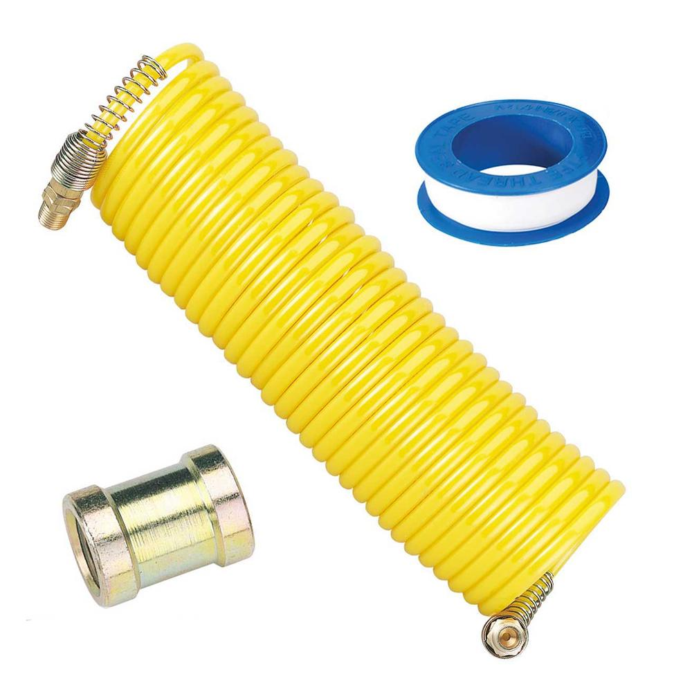 "Draper Airline Hose Kit with Male to Fem Connector 1/4"" BSP & PTFE Tape"