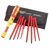 Draper 65372 965T/9 Expert Ergo Plus 9 Piece Interchangeable VDE Torque Screwdriver Set