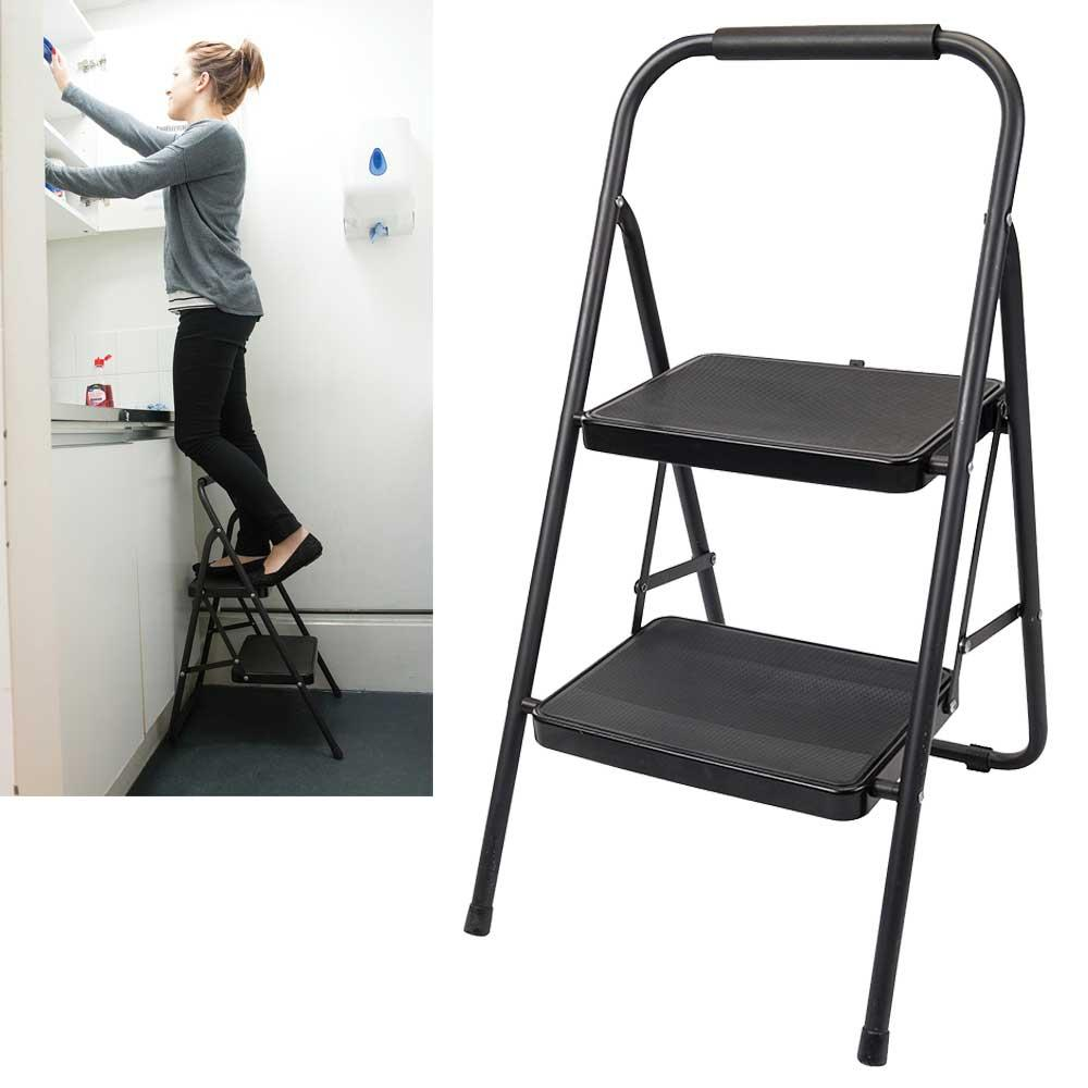 Silverline 226092 Step Ladder 430mm 2-Tread Foldable Steps