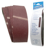 Silverline 310680 Sanding Belts 75 x 533mm Assorted Grit (5 Piece)