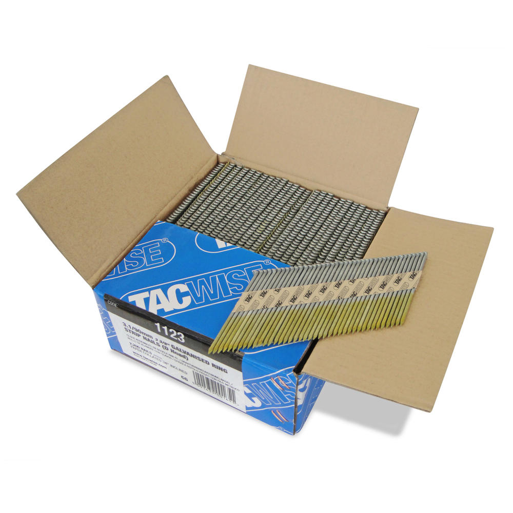 Tacwise 1123 3.1 x 90mm Ring Strip Nails (2500 Pieces)