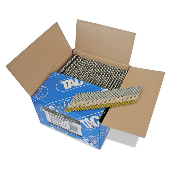 Tacwise 1124 2.8 x 50mm Extra Galvanized Ring Strip Nails (D-Head) 3300 Pieces Thumbnail 1