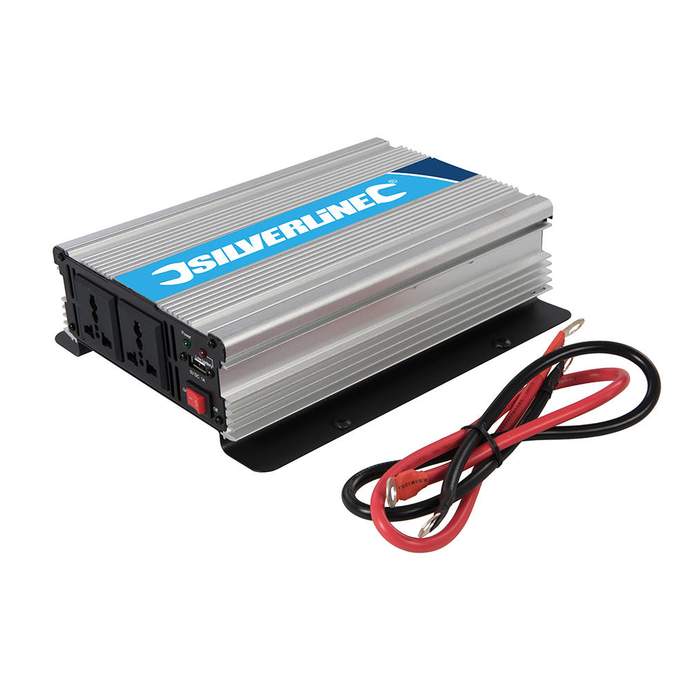 Silverline 168754 1000W 12V Dc 230V Ac Power Inverter