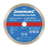 Silverline 361323 TCT Diamond Mini Saw Blade 85mm Diameter - 10mm Bore