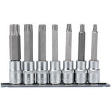 "Draper 16338 1/2"" Sq. Dr. Tx Star Security Socket Bit Set (7 Piece)"