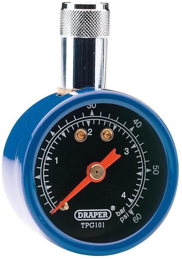 Draper 69923 TPG101 Tyre Pressure Gauge Thumbnail 1