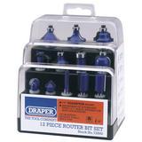 Draper 72892 DRB12A 12 Piece 1/4 Inch TCT Router Bit Set