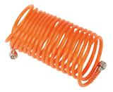 """Sealey SA335 PE Coiled Air Hose 5m x Ø5mm with 1/4"""" BSP Unions"""