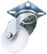 Draper 65497 60475P 75mm Dia. Swivel Plate Fixing Nylon Wheel - S.W.L. 70Kg