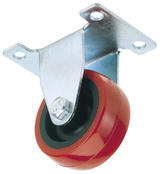 Draper 65508 60550P 50mm Dia. Swivel Plate Fixing Polyurethane Wheel - S.W.L. 50Kg (T)