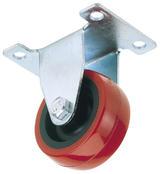 Draper 65508 60550P 50mm Dia. Swivel Plate Fixing Polyurethane Wheel - S.W.L. 50Kg