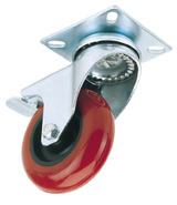 Draper 65514 60575PB 75mm Dia. Swivel Plate Fixing Polyurethane Wheel with Brake - S.W.L. 70Kg