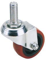 Draper 65520 605100B 100mm Dia. Swivel Bolt Fixing Polyurethane Wheel - S.W.L. 125Kg (T)