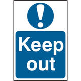Keep Out Self Adhesive PVC Sign (200 x 300mm)