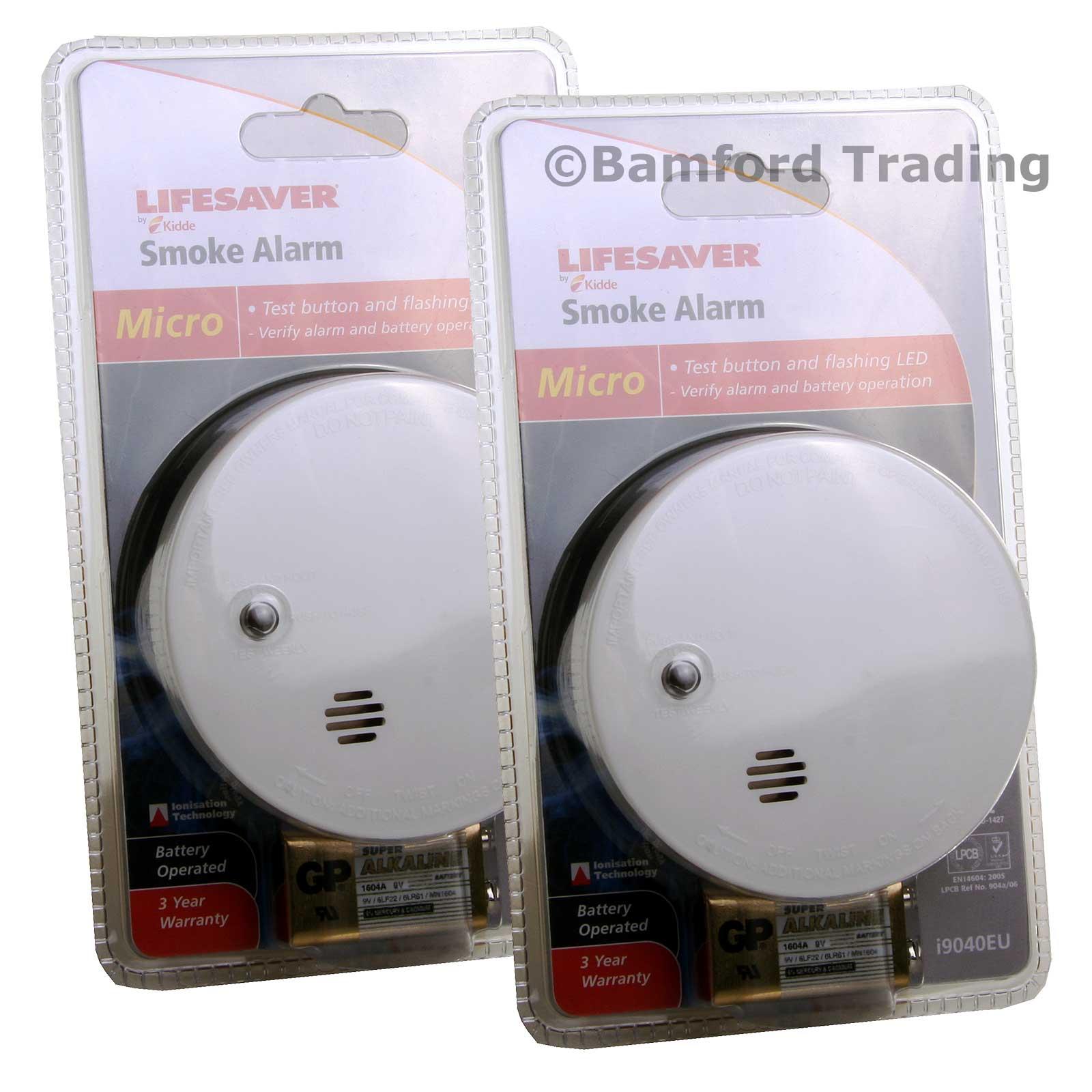 Kidde Micro Compact Smoke Alarm Twin