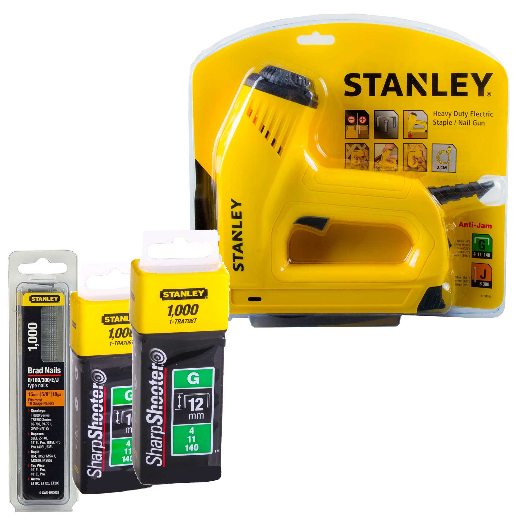Stanley Electric Stapler Nail Gun With 2000 Staples And