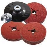 Silverline 283002 Rubber Backing Pad with 30 Fibre Discs