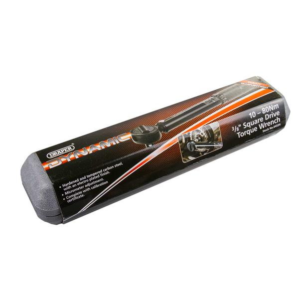 "Draper 64534 3004A/BK 3/8"" Sq Dr 10-80Nm Ratchet Torque Wrench Thumbnail 5"