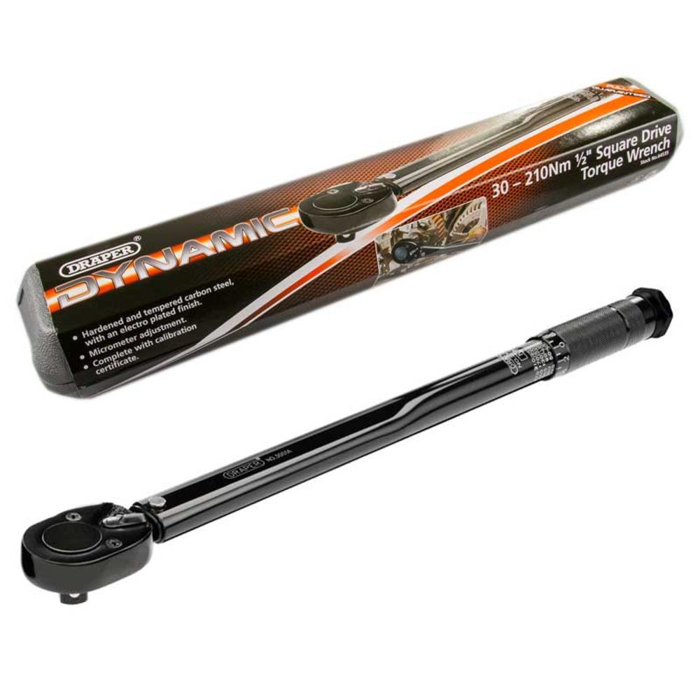 "Draper 64535 3001A/BK 1/2"" Sq Dr 30 - 210Nm Ratchet Torque Wrench"
