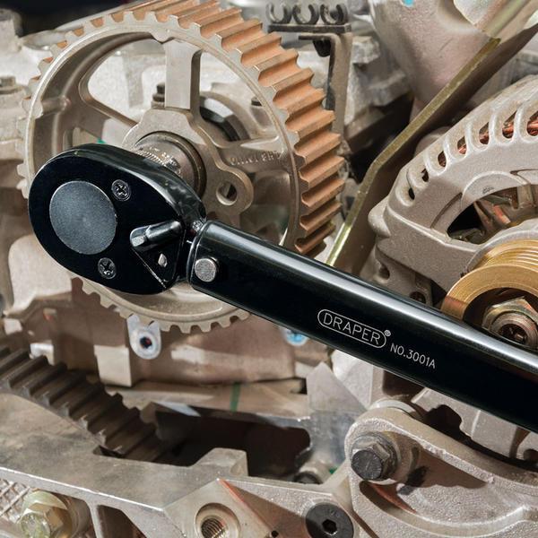 "Draper 64535 3001A/BK 1/2"" Sq Dr 30 - 210Nm Ratchet Torque Wrench Thumbnail 5"