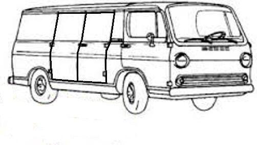 door rubber weatherstrip seal 1964 gmc g10  g20