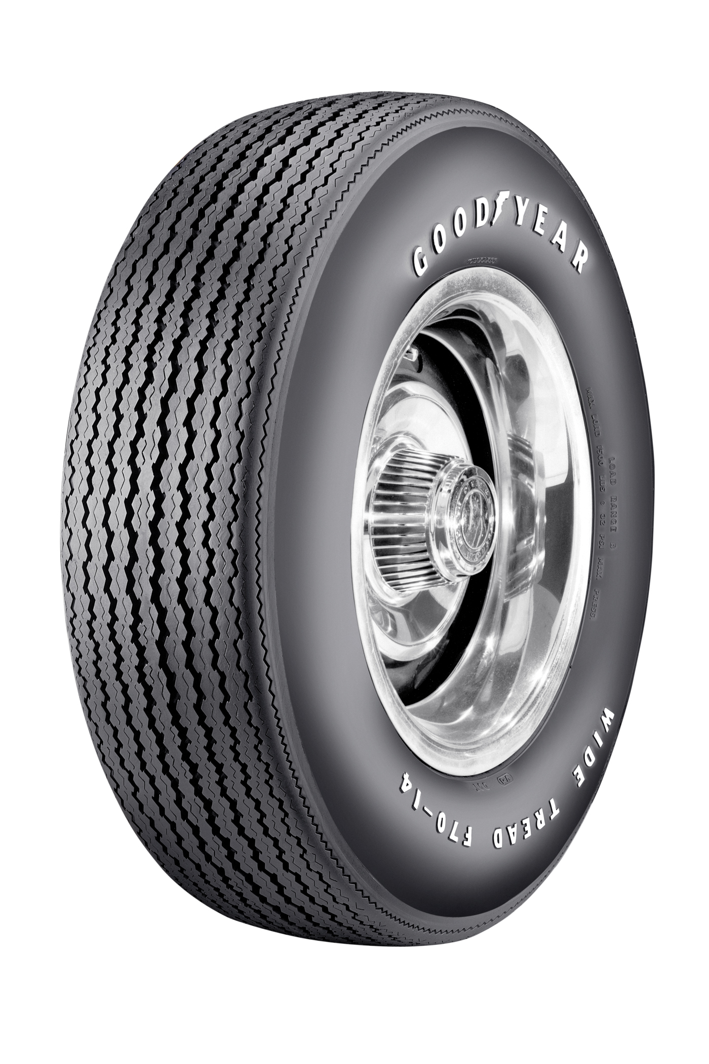 Speedway Wide Tread Raised White Letter 4 Ply Poly Tire F70 14