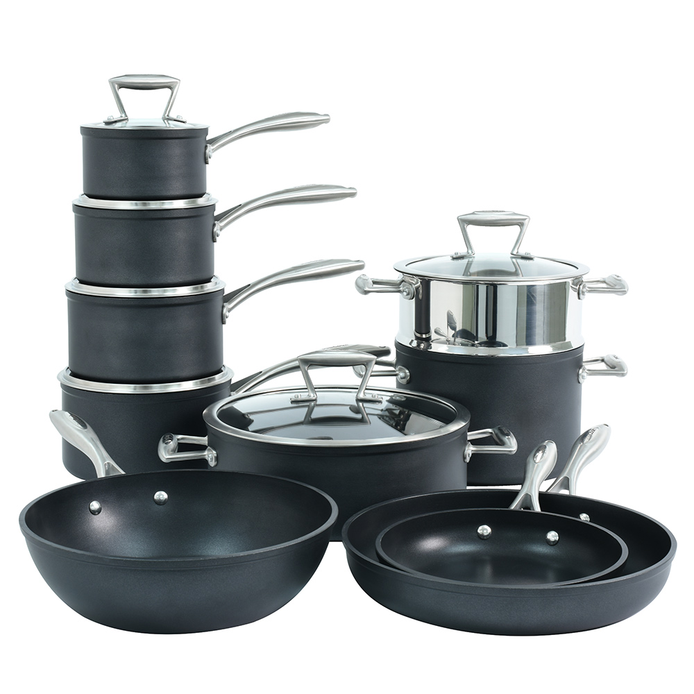 Procook forged non stick induction cookware set pots and for Perfect kitchen cookware