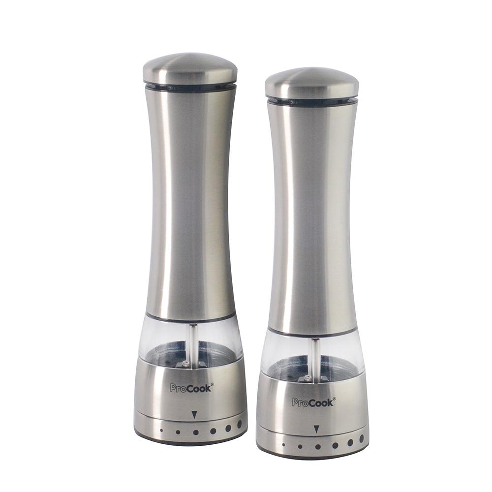 Stainless Steel Silver Rado Salt /& Pepper Dispenser Set of 2 PCS