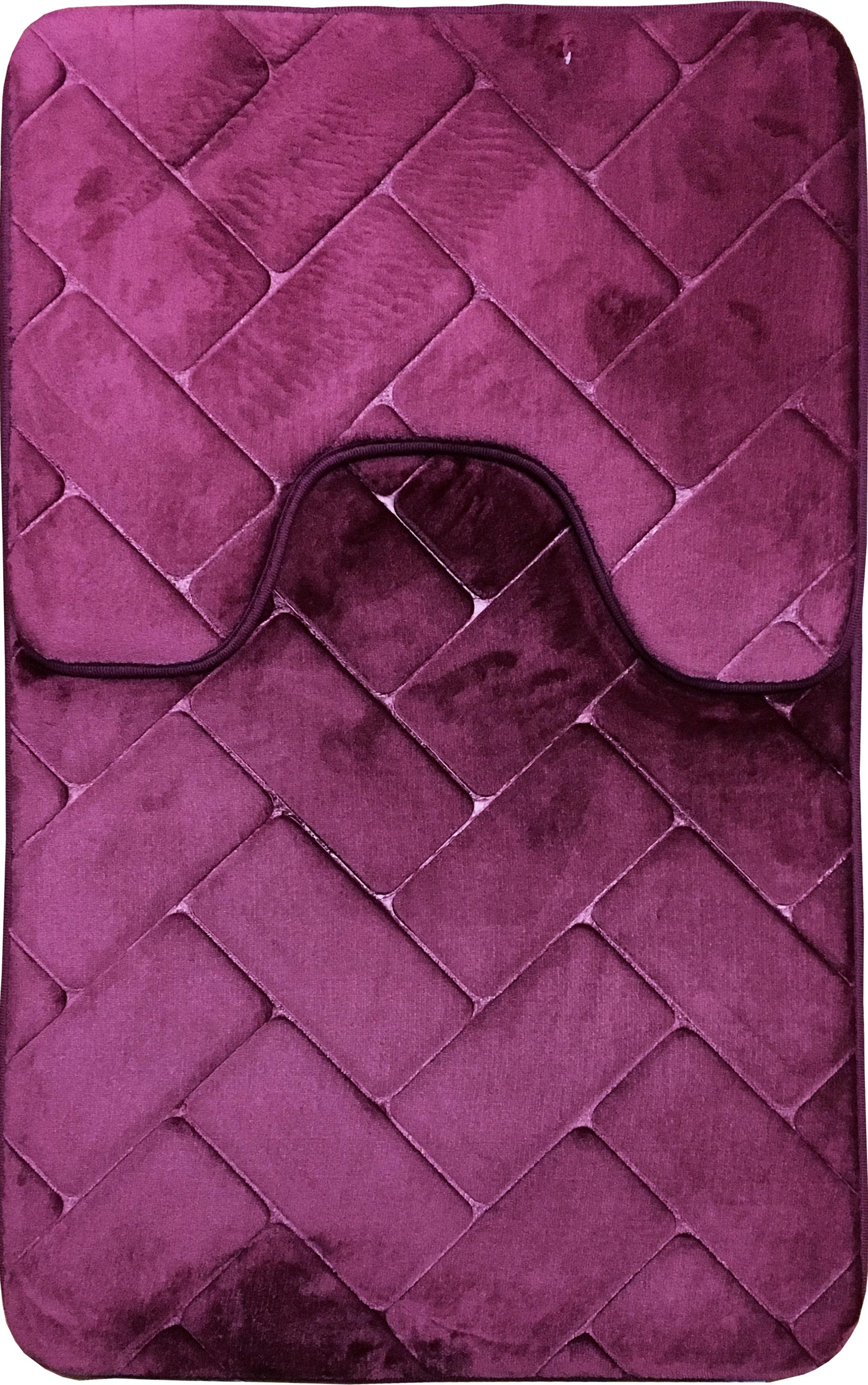 mats over on product rug radella free bedding shipping overstock mat stripe x bathtopia orders in bath purple microfiber