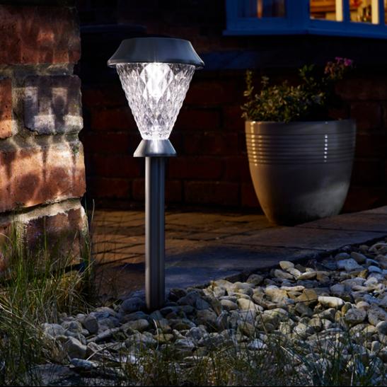 Bianca Hybrid Three Lumens Solar Garden Lights 4 Pack Dual Power Ideal Gift 5050642008600 Ebay