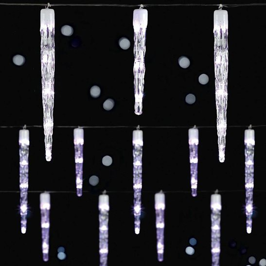 Details About 24 Chaser Icicle Lights With 72 White Led Christmas Lights Indoor Outdoor