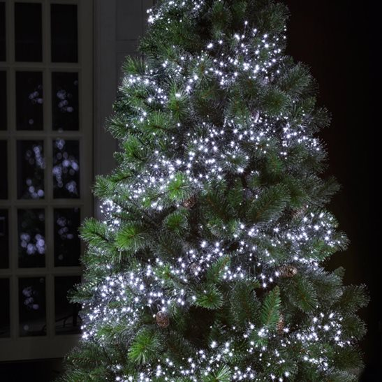 288 LED Multi Action Cluster Indoor Outdoor Christmas Lights White ...