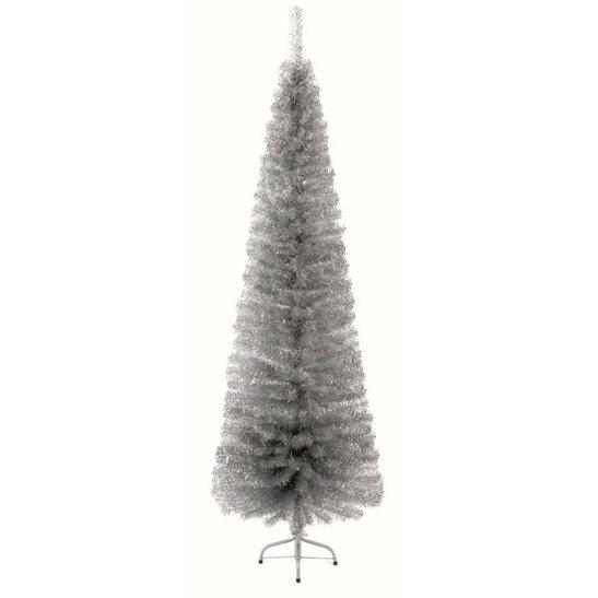 6 6ft Silver Luxiury Indoor Slim Pencil Pine Artificial Christmas Tree