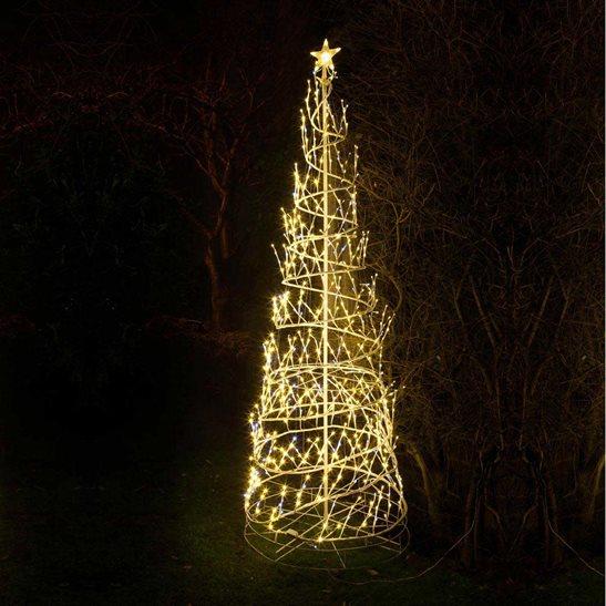 Costco Twinkling Christmas Tree: 8ft Warm White LED Twinkling Spiral Tree Christmas Rope