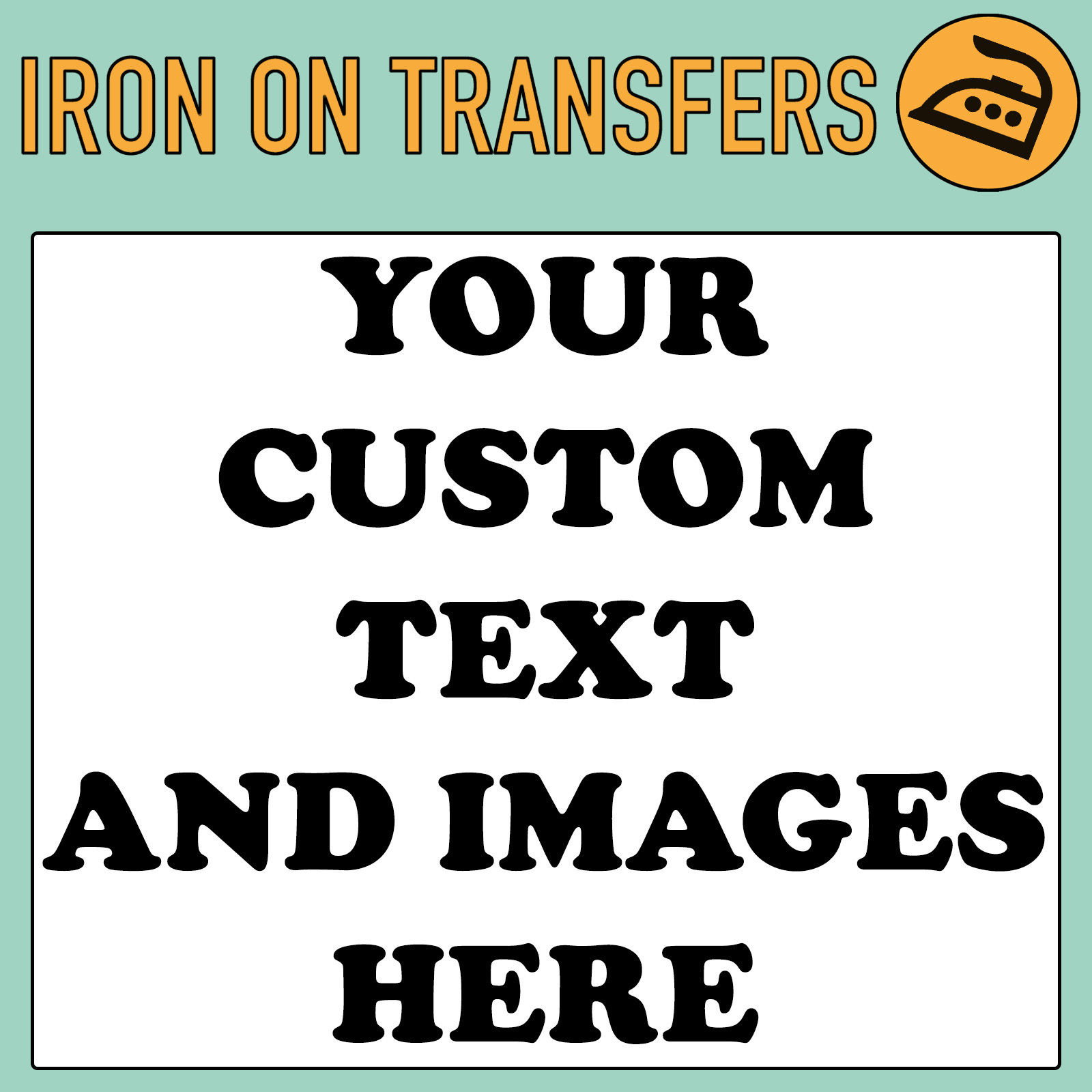 Custom Iron On T Shirt Transfer Personalised Text Quality Prints