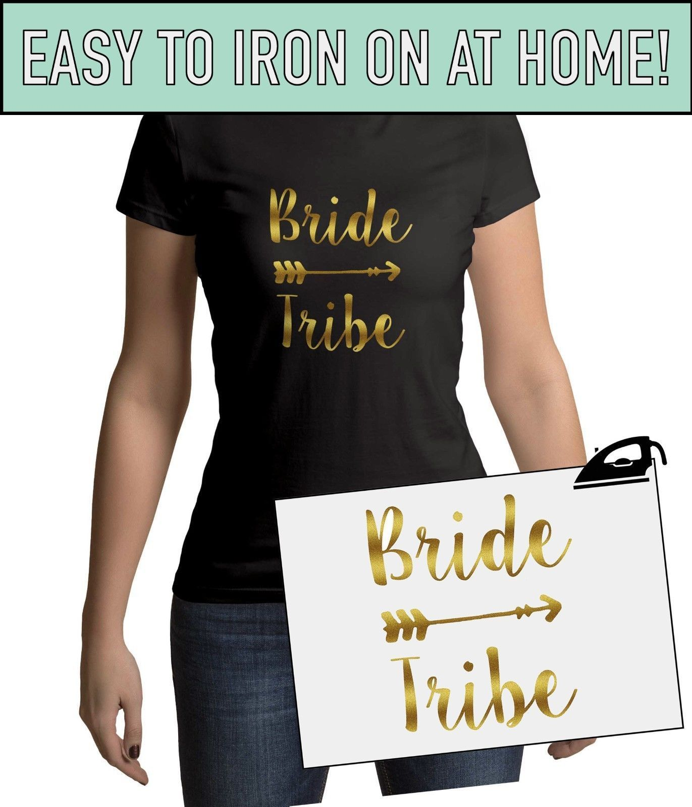 Bride Tribe Iron On T Shirt Transfer Bride Team Crew Squad To Be Hen